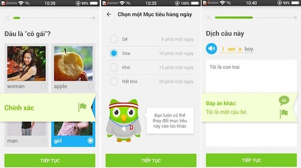 ung dung Duolingo 2