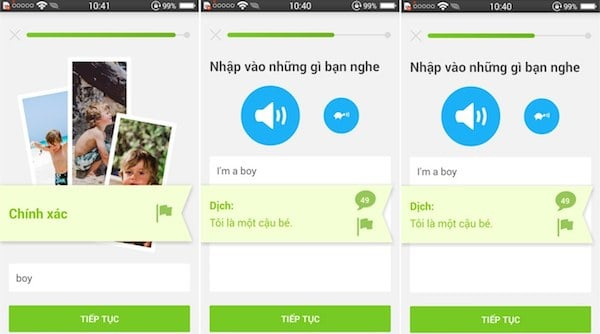 ung dung Duolingo cho android