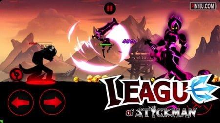 league of stickman 2017 ninja mod money