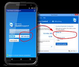 huong dan su dụng teamviewer QuickSupport 2